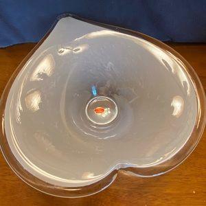 Vintage Murano Lavorazione Arte heart shaped bowl
